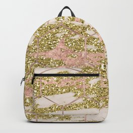 Dramatic rose gold and golden honeycomb Backpack