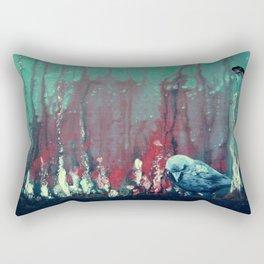 Praying Raven Rectangular Pillow