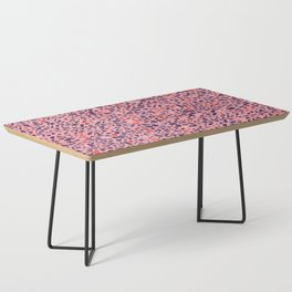 Terrazzo pink red blue Coffee Table