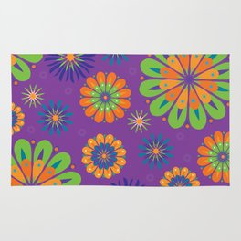 Psychoflower Purple Rug