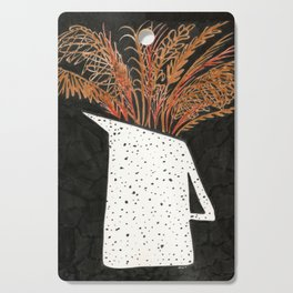 Autumn Still Life with Pampas Grass Cutting Board