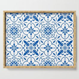 Azulejos Portugese tiles pattern Serving Tray