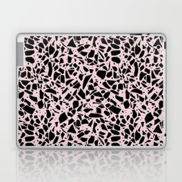 Terrazzo Spots Black on Blush Repeat Laptop & iPad Skin