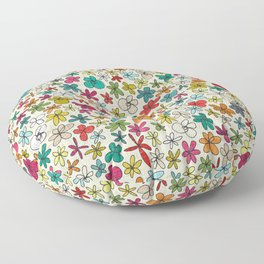 garland flowers multi Floor Pillow
