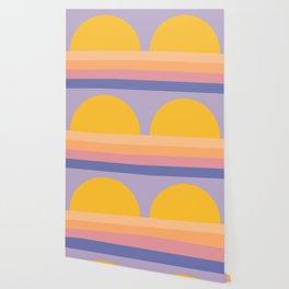 Retro Sunset - Bright Vibrant Colors Wallpaper