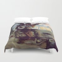 banjo Duvet Covers featuring The Banjo Lesson by Henry Ossawa Tanner by Elegant Chaos Gallery