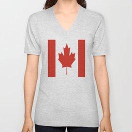 red maple leaf flag of Canada Unisex V-Neck