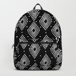 Mudcloth Dotty Diamonds in Black + White Backpack
