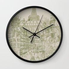 Paris! Musty Wall Clock