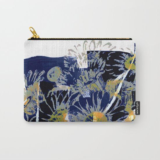 daisies on astract bakground Carry-All Pouch
