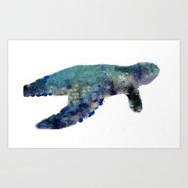 Sea Turtle Ocean Collection Art Print