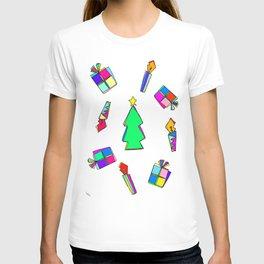 Ho Ho Ho Merry Christmas colorful illustration T-shirt