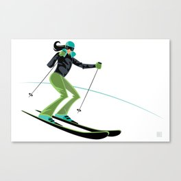 Ski Girl Turns Canvas Print