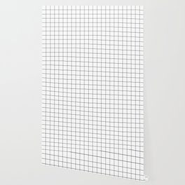 Grid Simple Line White Minimalist Wallpaper