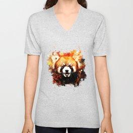 red panda portrait ws std Unisex V-Neck