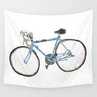 racing Wall Tapestries featuring 1977 BSA Racing Bike by Josh Ross