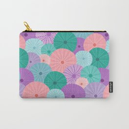 Sea Urchin in Mermaid Hues Carry-All Pouch
