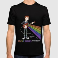 Radiohead Thom in Rainbows SMALL Mens Fitted Tee Black