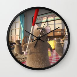 Three Blind Mice - Nursery Rhyme Inspired Art Wall Clock