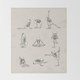 Skeleton Yoga Throw Blanket