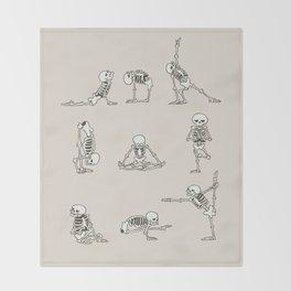 Skeleton Yoga Throw Blanket