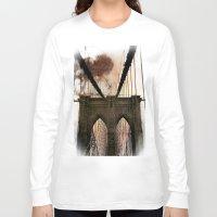 bridge Long Sleeve T-shirts featuring Bridge by Daniela Battaglioli