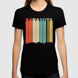 Vintage 1970's Style Sarasota Florida Skyline T-shirt