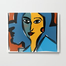 Staring at Matisse Metal Print