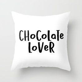 Chocolate Lover Throw Pillow