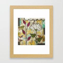 Flower Namastè Framed Art Print