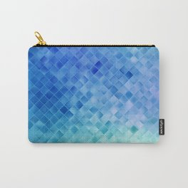 Blue Mosaic Pattern Carry-All Pouch