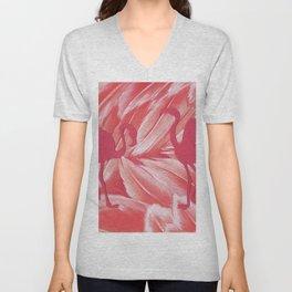 Pink dance of Flamingoes Unisex V-Neck