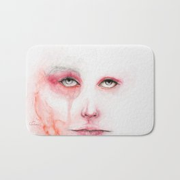Redness Blurs the Eyes Bath Mat