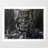 Death Smokes Art Print