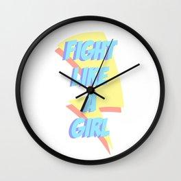 Fight like a girl Wall Clock