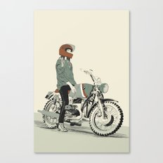The Woman Rider Canvas Print