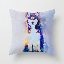 Tika'ani our Siberian Husky Throw Pillow