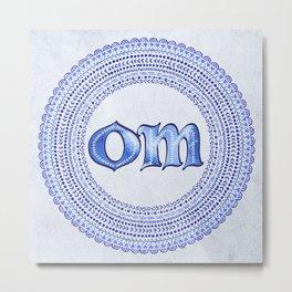 Blue Om Metal Print
