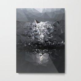 Geometric Glacier Metal Print