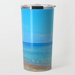 Perce Beach panoramic Travel Mug
