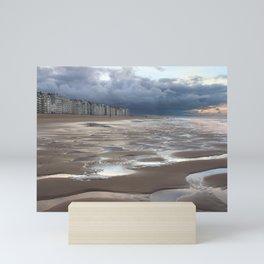 Belgian Coastal Landscape, Winter Mini Art Print