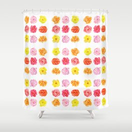 9 watercolor roses Shower Curtain