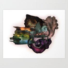 Cosmic Dust | Collage Art Print