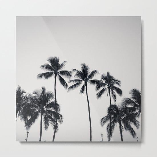 palmtreeeeeee ver.black Metal Print