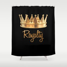 Royalty Gold Crown Shower Curtain