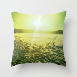 Lac des Pins Throw Pillow