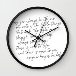 May you always Wall Clock