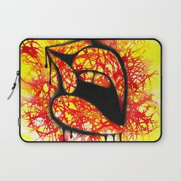 Kiss red & yellow Laptop Sleeve