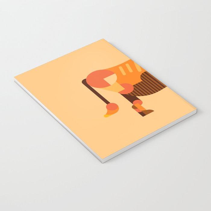 Bull Orange Notebook