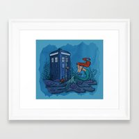 hallion Framed Art Prints featuring Part of Every World by Karen Hallion Illustrations